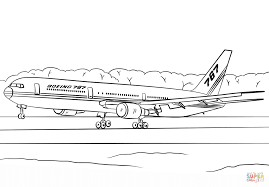 boeing 767 400er coloring page free printable coloring pages