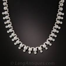 diamond necklace images Contemporary diamond necklace in 18 karat white gold jpg
