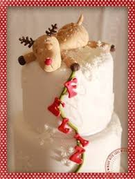 Christmas Cake Decorations Reindeer by Really Cute Decoration And So Simple Whole Cakes Pinterest