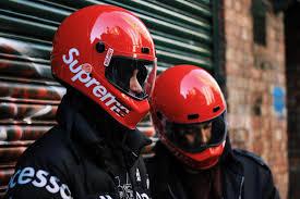 black friday motorcycle helmets supreme x simpson street bandit motorcyle helmet hypebeast