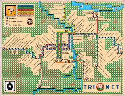 Portland Public Transportation Map by Portland U0027s Max Lrt Map U2013 Super Mario 3 Style U2013 Dave U0027s Geeky Ideas