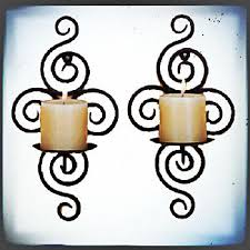 Votive Wall Sconce Antique Hanging Puzzle Wrought Iron Votive Candle Holder Metal