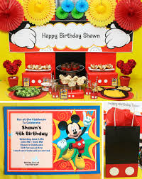 Twins 1st Birthday Invitation Cards Mickey Mouse Party Mickey U0027s Clubhouse Party At Birthday In A Box