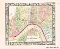 New Orleans Wards Map by Plan Of New Orleans Sold Antique Maps And Charts