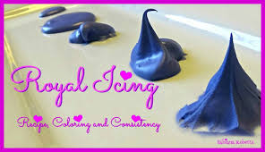 royal icing recipe coloring and consistency youtube