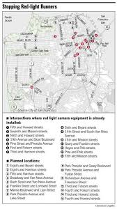 red light camera california map s f to add cameras to catch red light runners program to deter