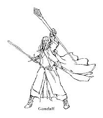 seigneur des anneaux gandalf coloriage le seigneur des anneaux