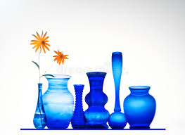 Cobalt Blue Vases Cobalt Blue Vases With Flowers Stock Photo Image 19889088