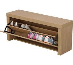 buy home cuban shoe storage cabinet oak effect at argos co uk
