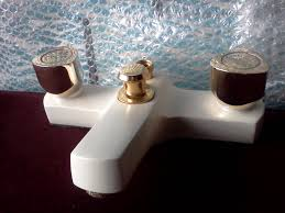 bath basin taps shower mixers at low prices bath shower mixer shower kit basin taps white gold finish 65 classic