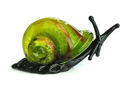 green glass snail ornament co uk kitchen home
