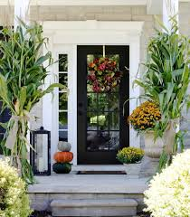 Corn Stalk Decoration Ideas Fabulous Front Door Decorations Remodeling Ideas With Gray Candle