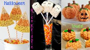 Halloween Appetizers Recipes Pictures by Recipe Review Halloween Rice Krispie Treats Pumpkins Ghosts