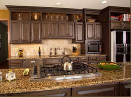 Paint Amp Glaze Kitchen Cabinets by Kitchen Dazzling Chocolate Brown Painted Kitchen Cabinets