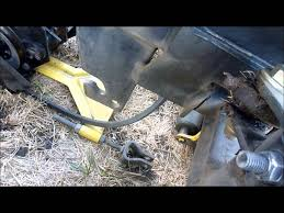 attaching a deck to a john deere 318 322 332 316 youtube