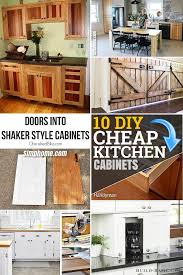 is it cheaper to build your own cabinets 10 diy cheap kitchen cabinet projects simphome