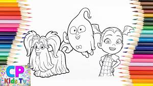Wolfie Demi And Virina Coloring Pages For Kids How To Color Pages For To Color