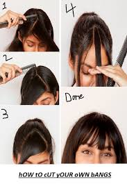 step cutting hair easy step by step method to cut bangs at home how to do everything