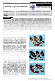 microbiology of cockroaches u2013 a public health concern