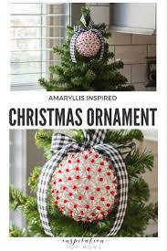 diy amaryllis inspired christmas ornament inspiration for moms