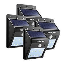 mpow solar light instructions 8 led security light mpow solar powerd wireless led amazon co uk