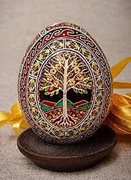 ukrainian egg luxury easter egg tree of handmade painted