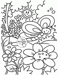 coloring pages nice spring coloring page for kids seasons