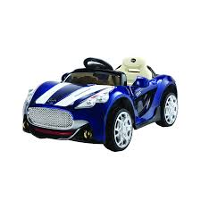 car toy blue 12v electric ride on convertible sports kids car toy in blue for 3