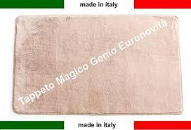 tappeto in microfibra tappeto magico genio 50x80 vari colori antiscivolo microfibra