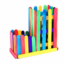 natural color and colored wood craft sticks for kids buy ice