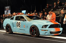 mustang paint schemes gulf racing mustang barrett jackson 2013 ford mustang wrap up