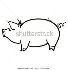 symbol pig childrens sketch stock vector 108486443 shutterstock