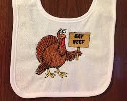 turkey bib etsy