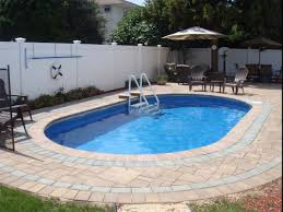 Adirondack Patio Furniture Sets - swimming pool fiberglass swimming pool with 3 patio lounge chairs