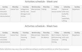 amazon schedule black friday gaia amazon spanish u0026 kichwa in ecuador tours itinerary