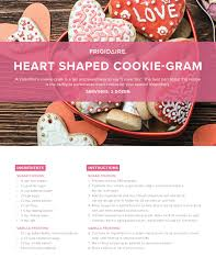 cookie gram frigidaire heart shaped cookie gram recipe ta