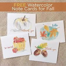 watercolor notecards free fall watercolor note cards printable greeting cards