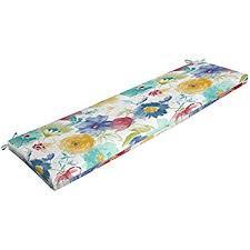 amazon com mainstays outdoor patio bench cushion grey