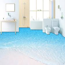 Bathroom Wallpaper Modern - aliexpress com buy custom 3d photo wallpaper modern beach sea