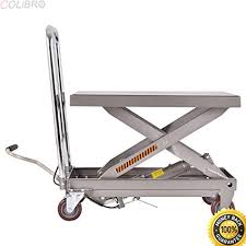 scissor lift table harbor freight amazon com colibrox rolling table cart 500lb capacity hydraulic