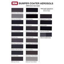 sem products 39293 honda black 12 oz aerosol bumper coater