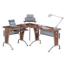 Computer L Desk Gaming L Shaped Desk Modern Glass Top Computer Desk Corner