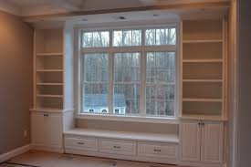 built in bench u0026 bookcases custom home finish