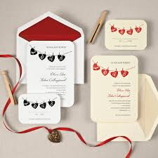Shabby Chic Wedding Invitations by Modern Rustic Shabby Chic Black Red Exclusively Weddings