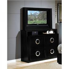 Bedroom Dresser With Mirror by Hollywood Bedroom Bed Tv Dresser U0026 Tv Mirror Black King