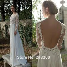 backless lace wedding dresses buy backless sleeve lace wedding dress open back