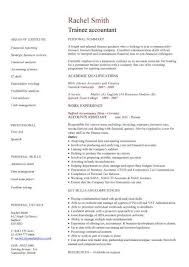 Tax Accountant Resume Sample by Trainee Accountant Cv Sample