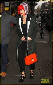 halloween in new york city rita ora wears red wig for halloween in new york city photo