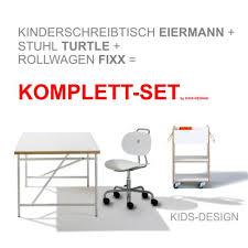 kinderschreibtisch design komplett set 1 kinderschreibtisch eiermann 120x70 cm weiß