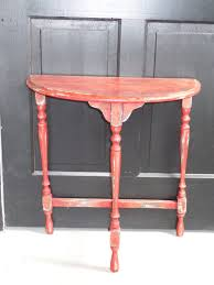 antique half moon table primitive antique half moon table finished in chalk paint half